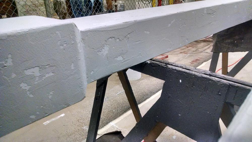 Cement Wall Column Detail