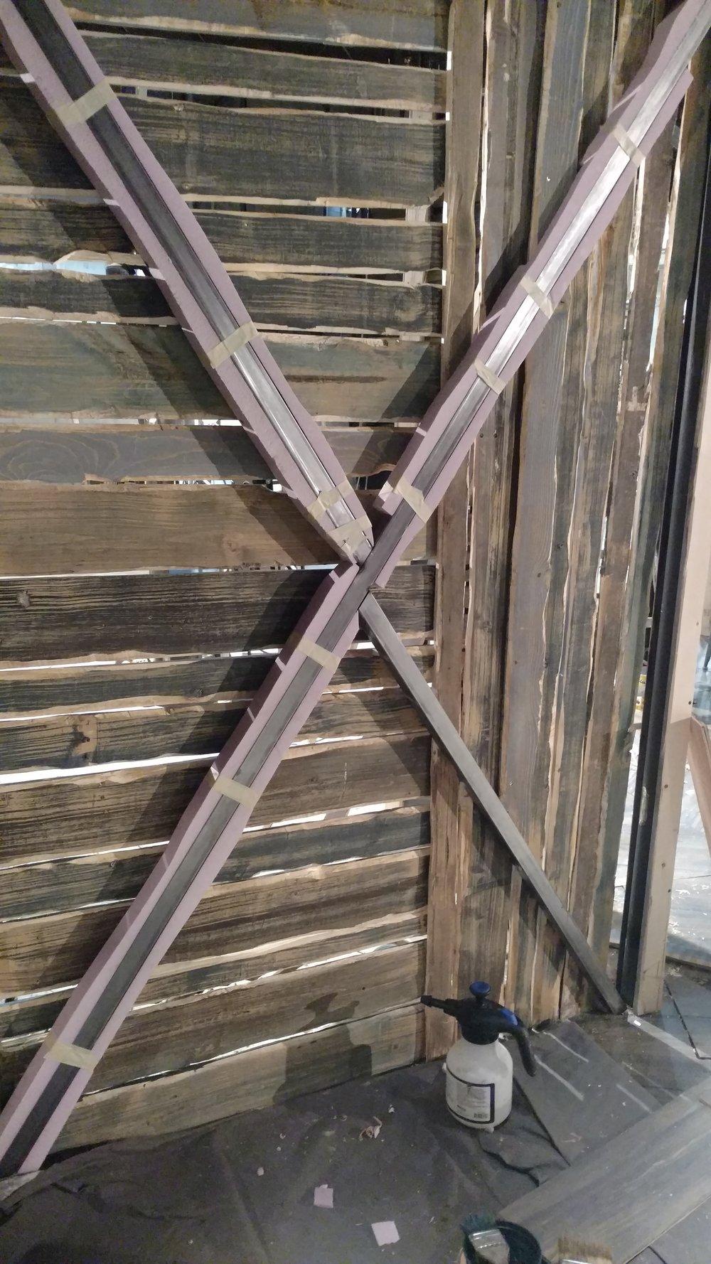 Wood Detail, Cross Bars in Progress