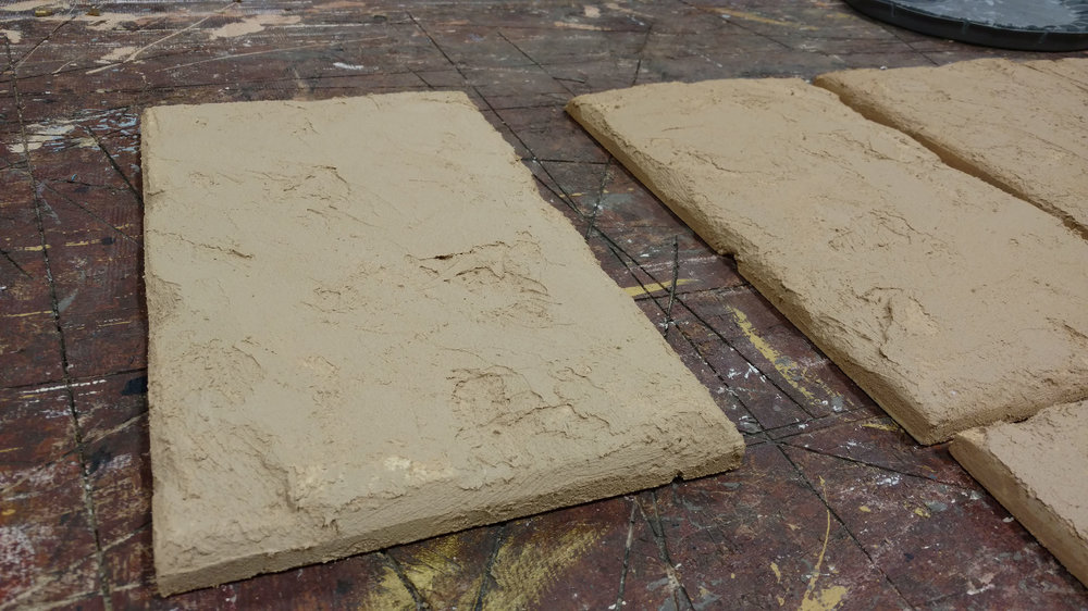 Stones with Tile Adhesive and Elastomeric