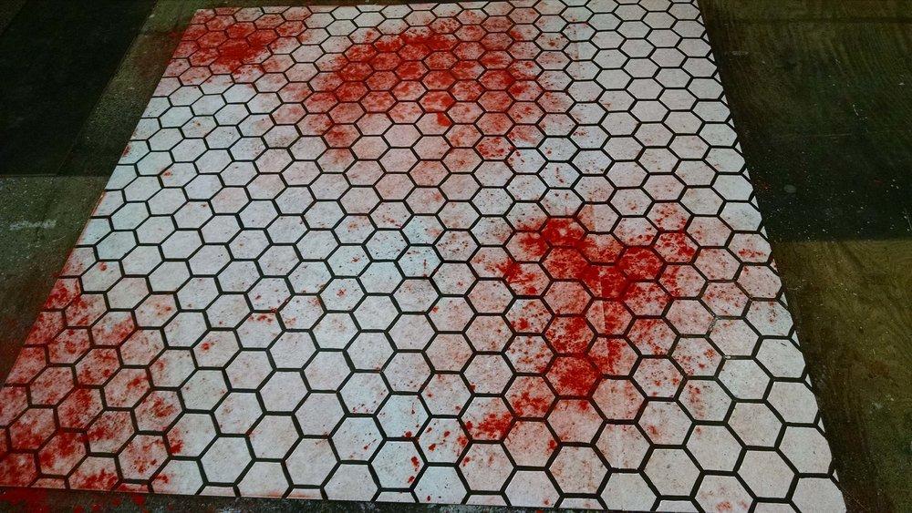 Dentist Floor Hand Painted