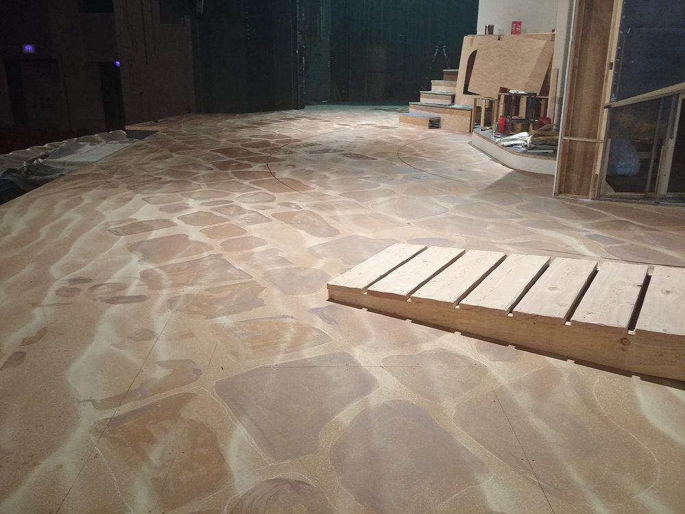 Floor Stones in Progress