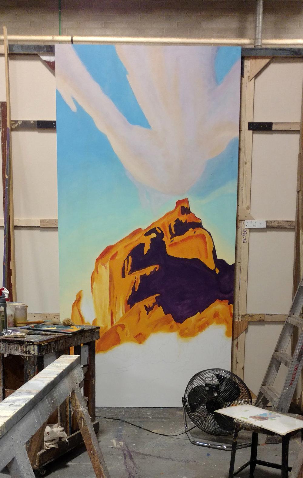 Santa Fe Painting in Progress