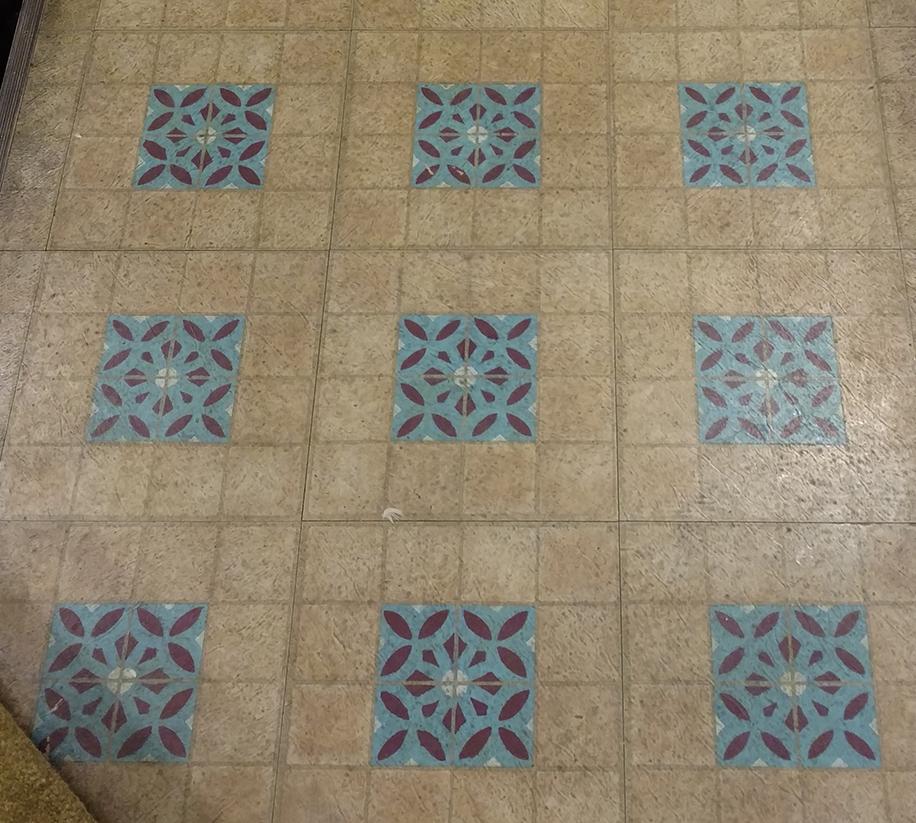 Painted Design on Tile Detail