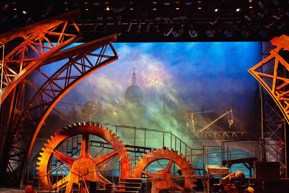 Stage Under Light