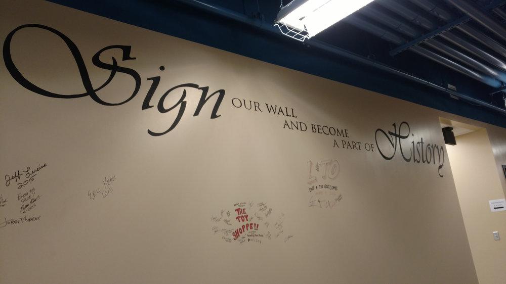 Signing Wall
