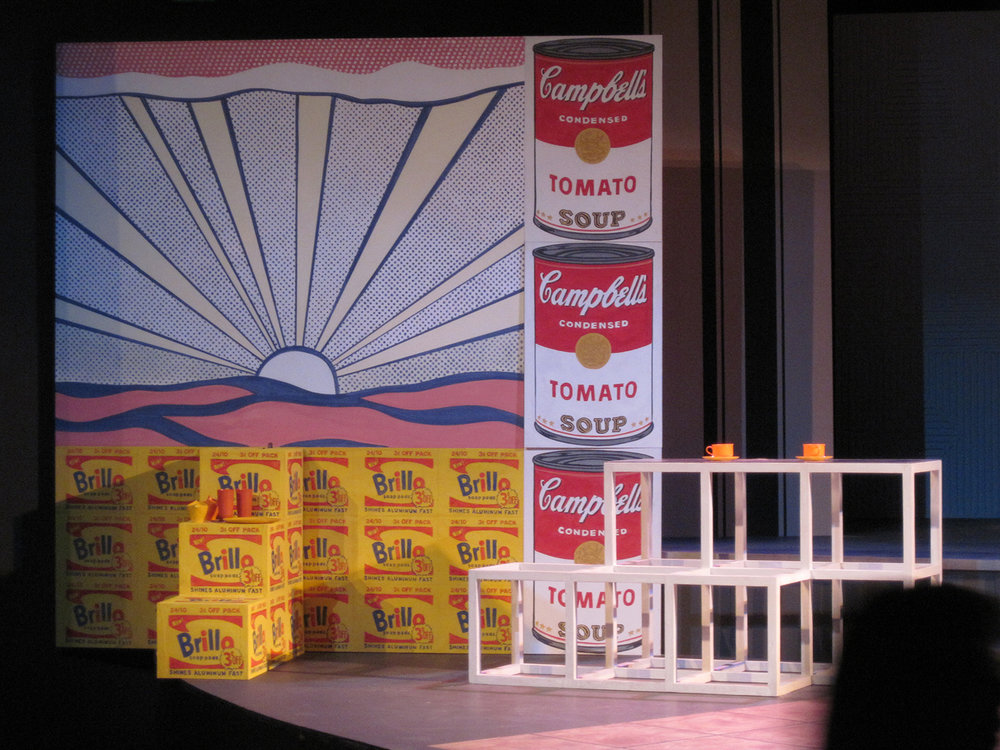 Pounced Brillo Boxes and Projected Soup Cans