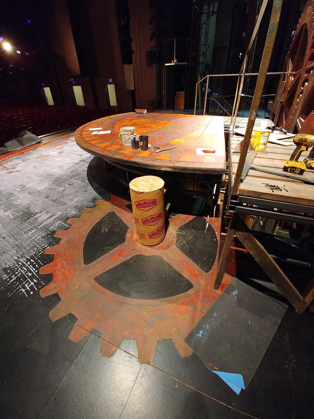 Gear Platform and Gear on Floor