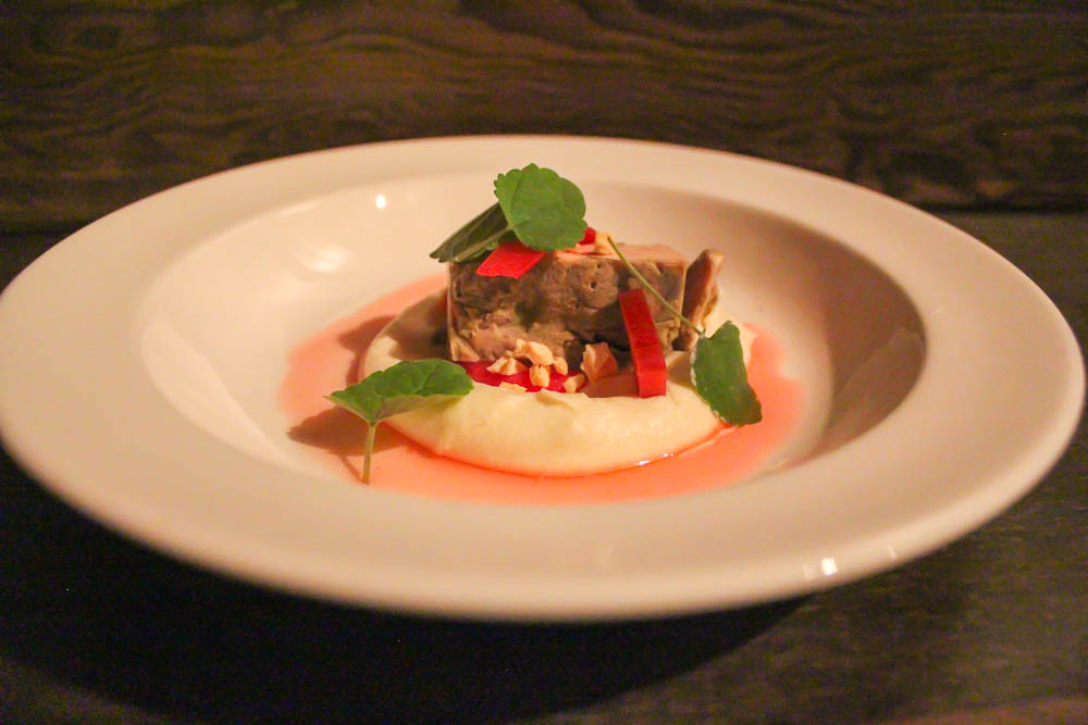 Foie Gras by Kyl Haselbauer ~ Noyer anise, parsnip, rhubarb