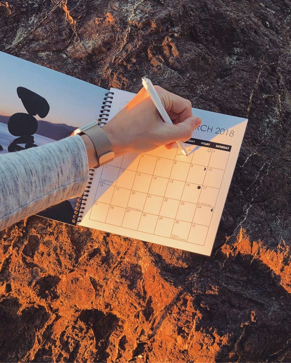 Travis Ruskus 2018 Planner Writing.JPG