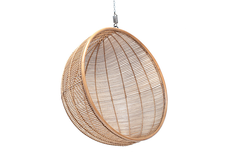 RATTAN HANGING BOWL CHAIR NATURAL // $799