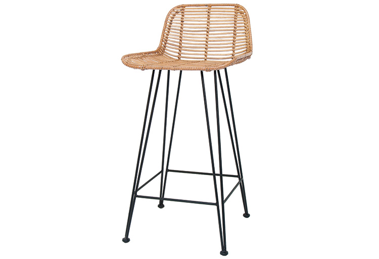 RATTAN BAR STOOL NATURAL // $349