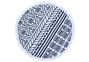 THE AZTEC ROUND TOWEL // $110