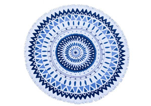 THE MAJORELLE ROUND TOWEL // $110