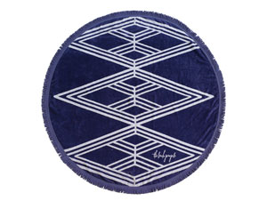 THE SANTORINI ROUND TOWEL // $99