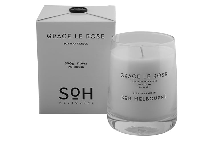 GRACE LE ROSE CANDLE // $49