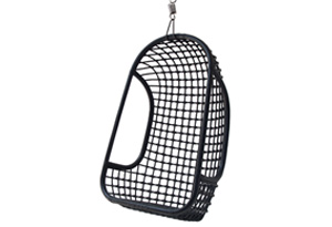 RATTAN HANGING CHAIR BLACK // $499