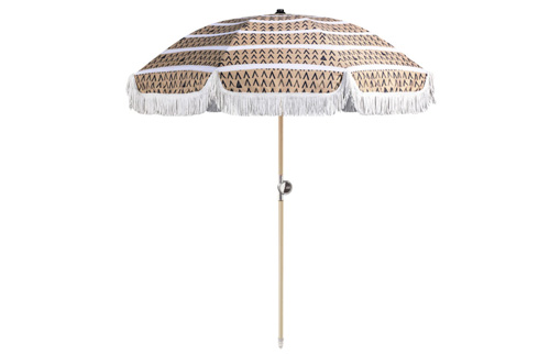 TAN LINES BEACH UMBRELLA // $299