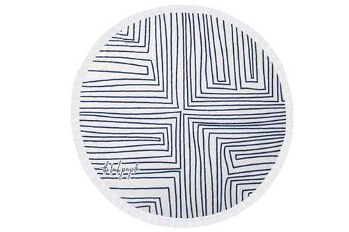 THE AVALON ROUND TOWEL // $99