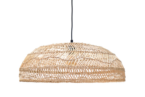 WICKER HANGING LAMP M // $299