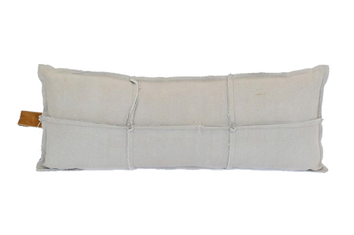 FRAYED EDGE LONG CUSHION STONE // $79