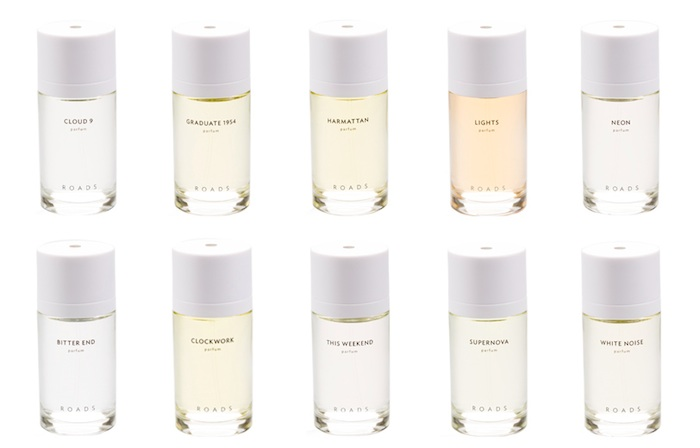 Roads Perfume Range  is a stunning selection of conceptual fragrances.