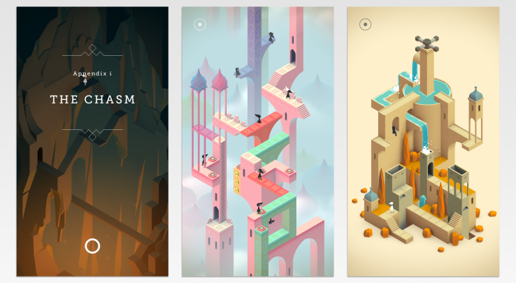 Playing : Monument Valley.