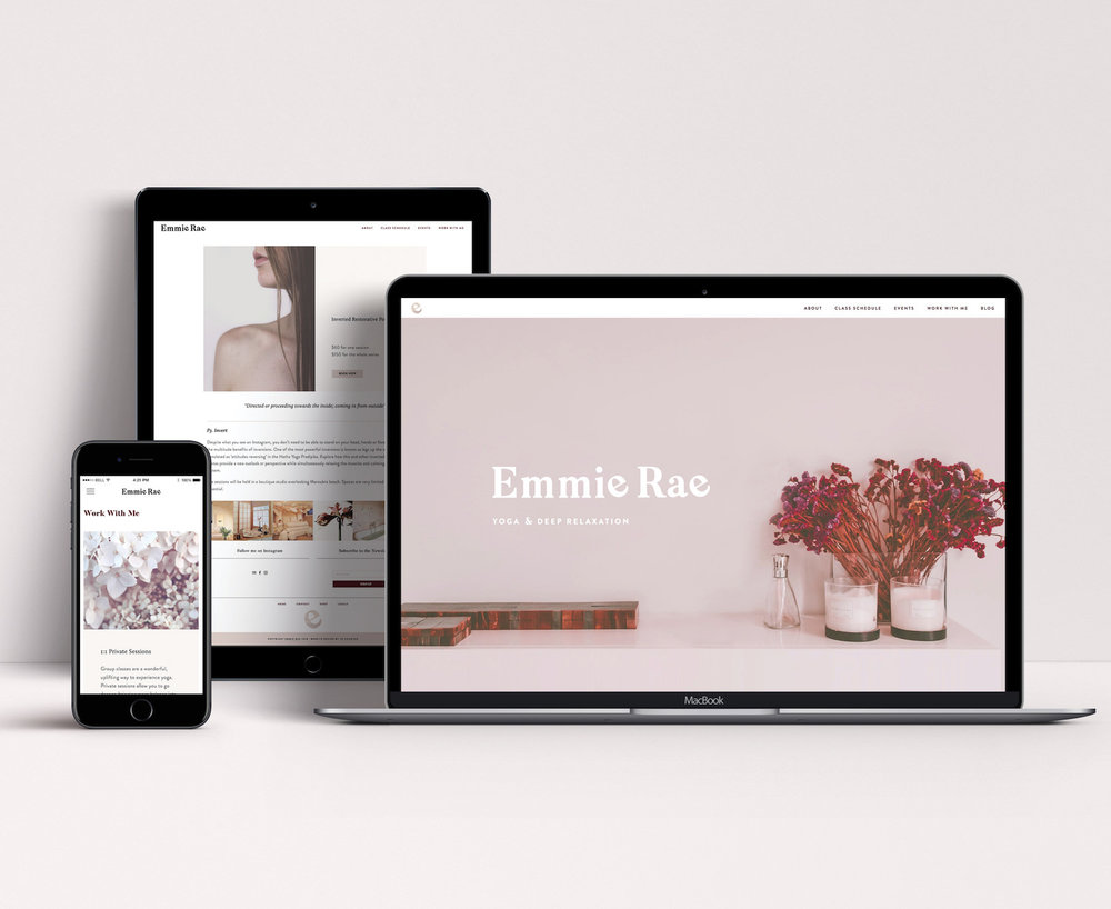 RESPONSIVE WEBSITE CReated for SQUARESPACE