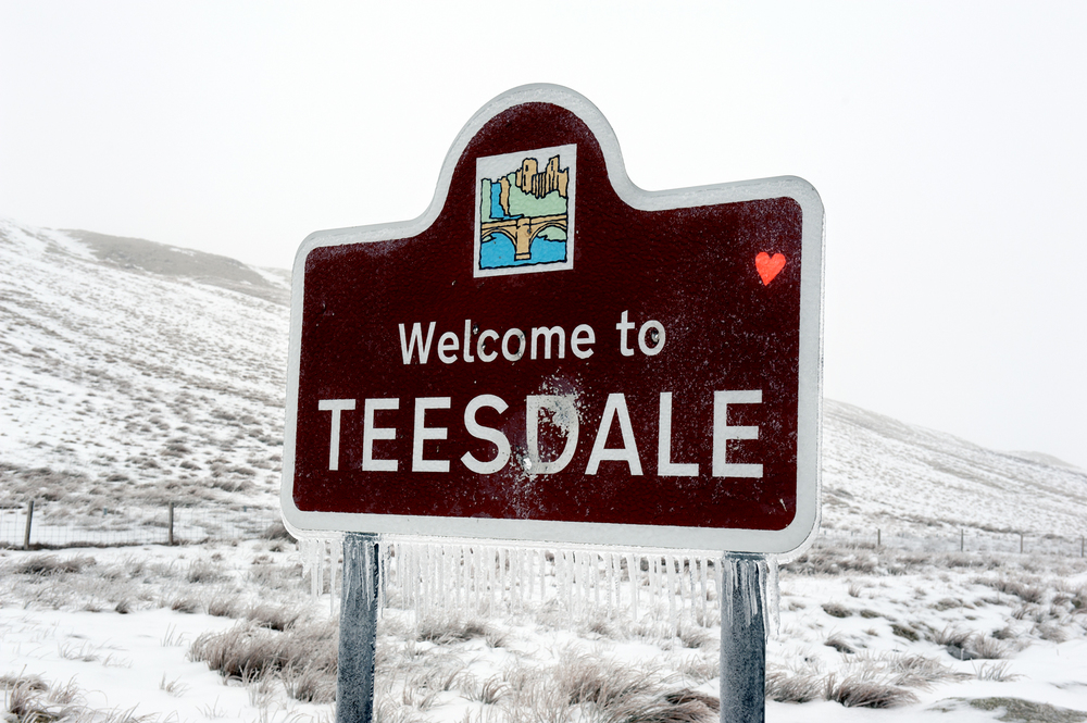 welcome to teesdale [warcop ranges, warcop, cumbria, england, 2012]