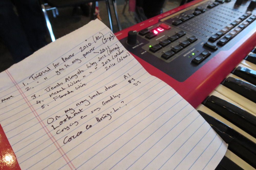 Lonnie Holley's show notes for the launch event.