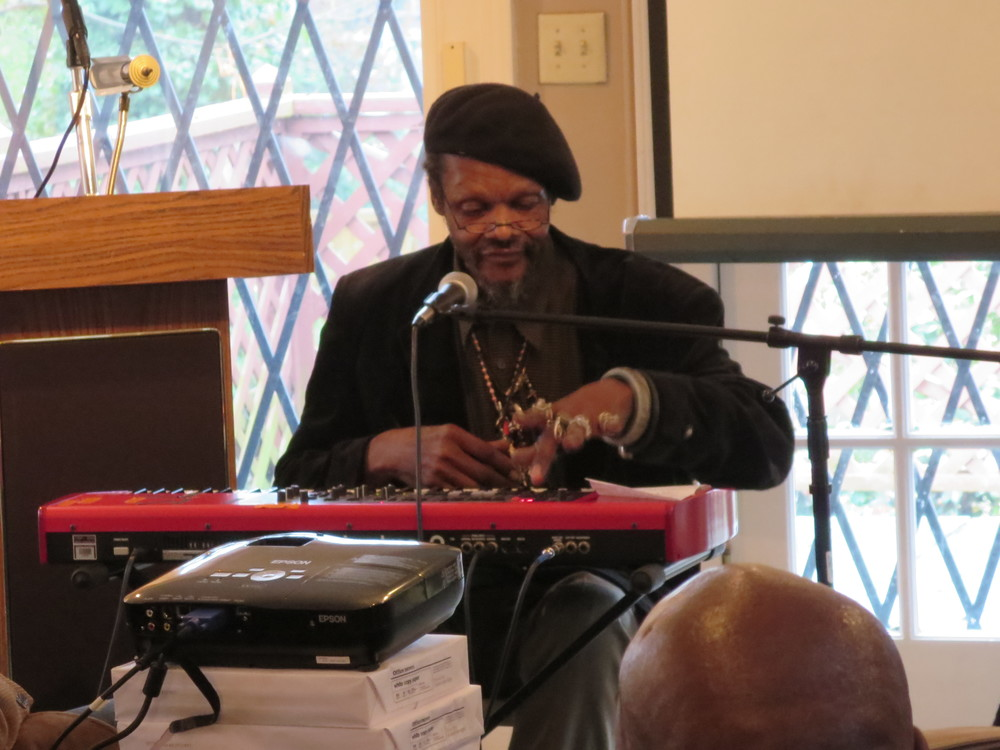 Lonnie Holley playing at the IndieGoGo Launch