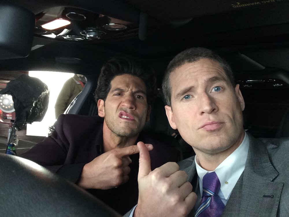 Alex with Jon Bernthal on the set of  The Accountant .