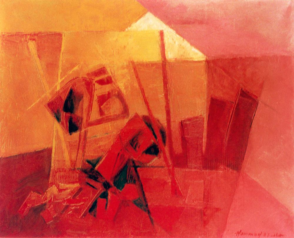 Calligraphy . Salamon Kawlan Min Rabin Raheem . 1987 . سلام قولا من رب رحيم