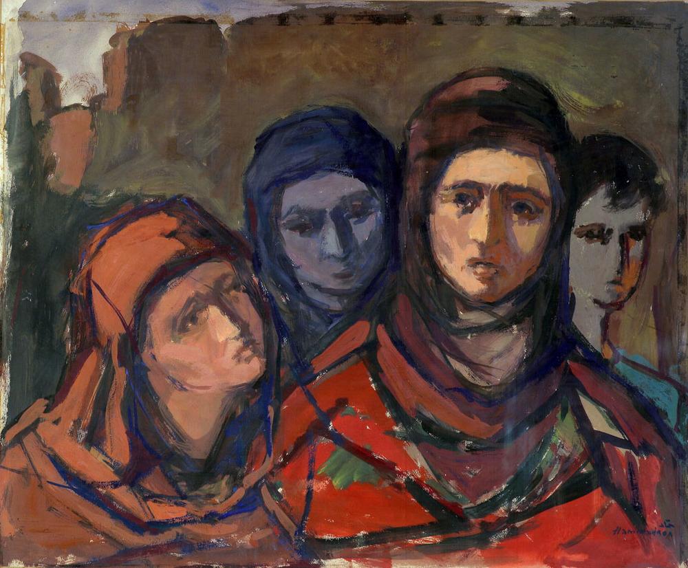Farmers In Palestine . 1958 . القرويات في فلسطين