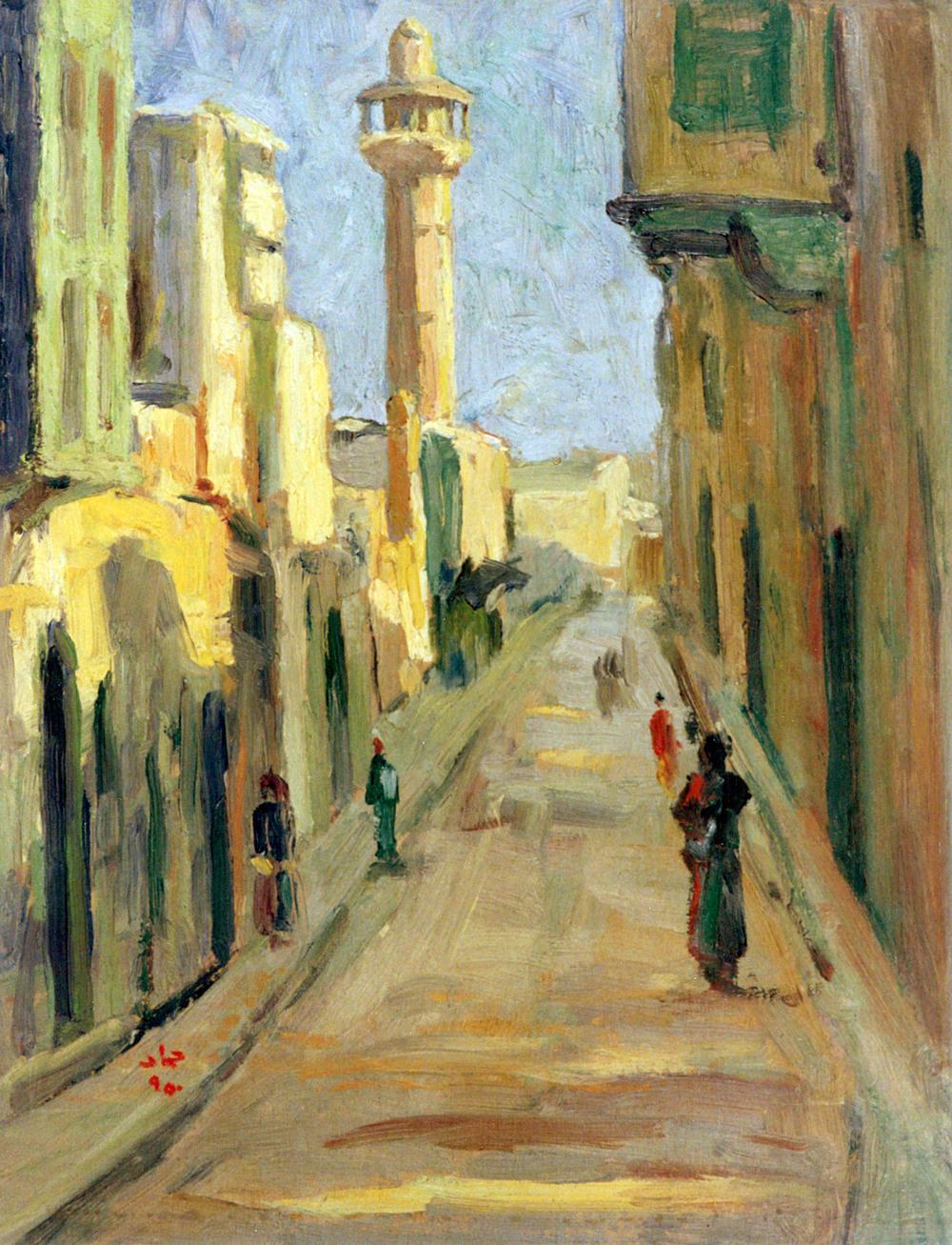 Alley In Aleppo, Kattab Mosque . 3 - 1950 . زقاق في حلب - جامع الكتاب