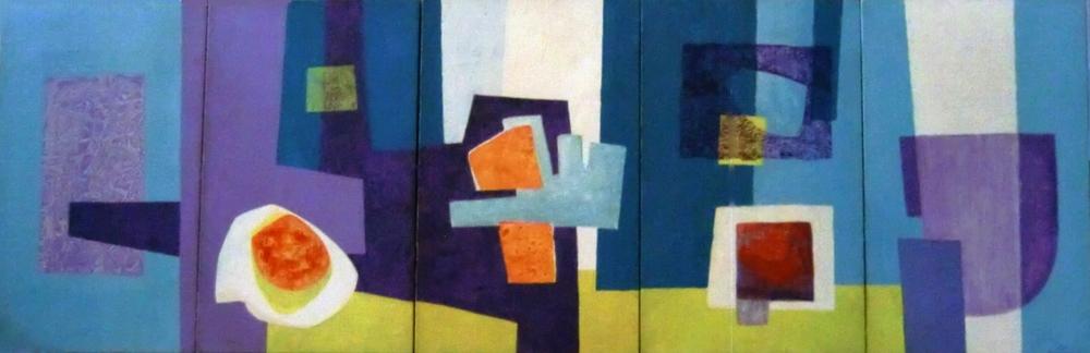 Composition . 5 Pannels . 1968 . مساحات تلوينية