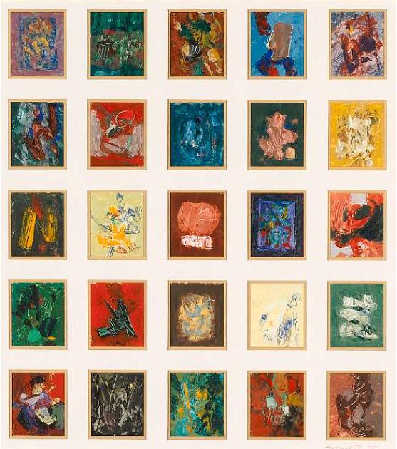 Abstract In Squares . 1980 . تجريد في مربعات