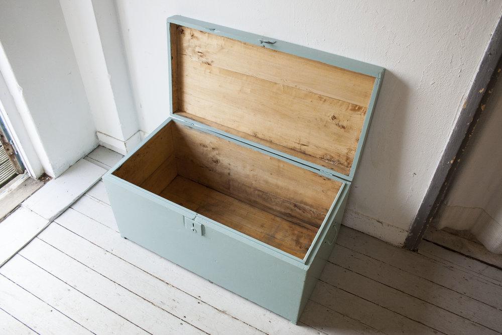 Vintage blauwgroene kist - Firma Zoethout_3.jpg
