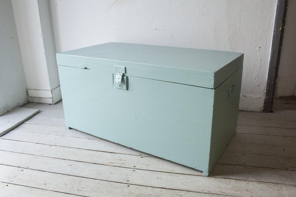 Vintage blauwgroene kist - Firma Zoethout_5.jpg