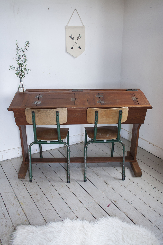 Houten vintage schooltafel - Firma Zoethout_5.jpg