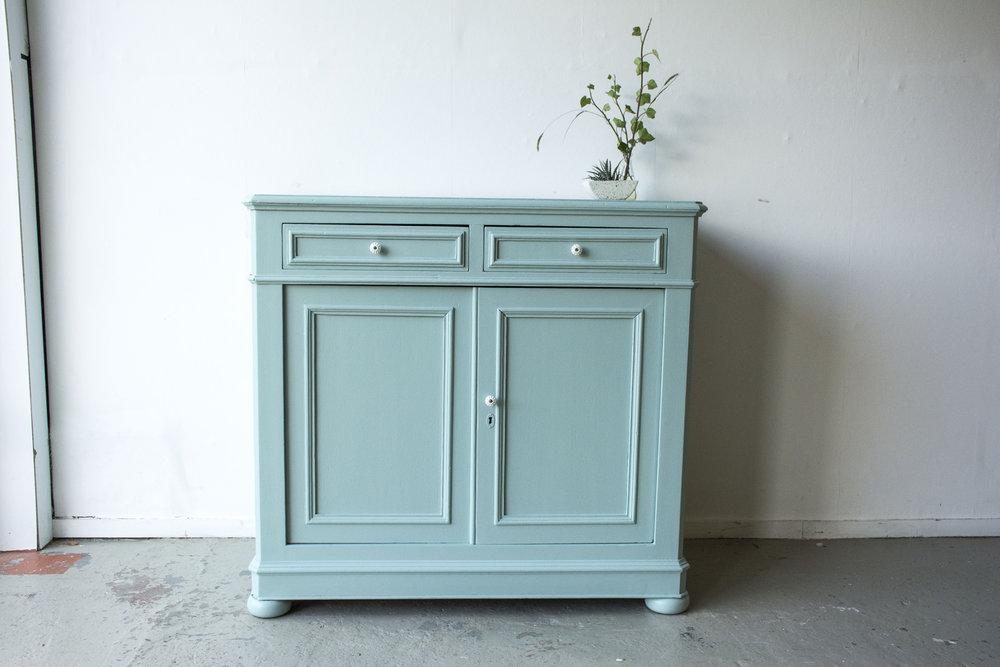 Groenblauwe vintage commode- Firma Zoethout_2.jpg