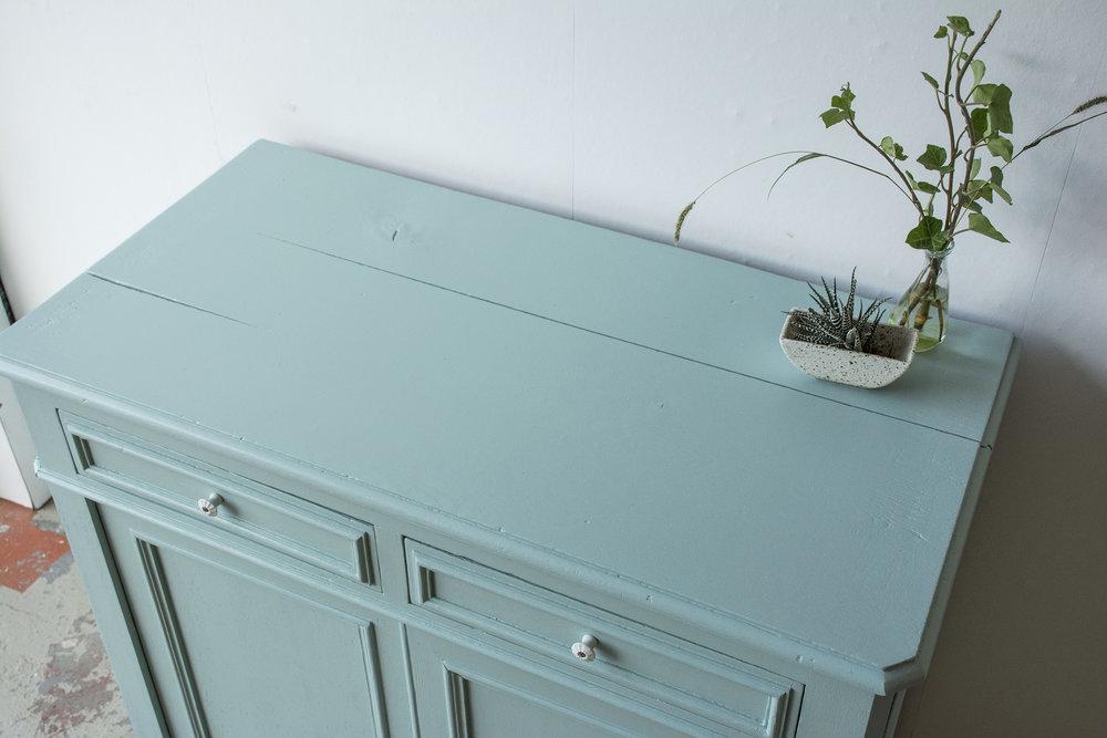 Groenblauwe vintage commode- Firma Zoethout_4.jpg