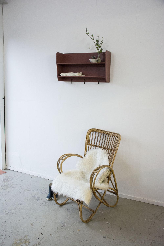 Vintage rode hangplankje- Firma Zoethout_1.jpg