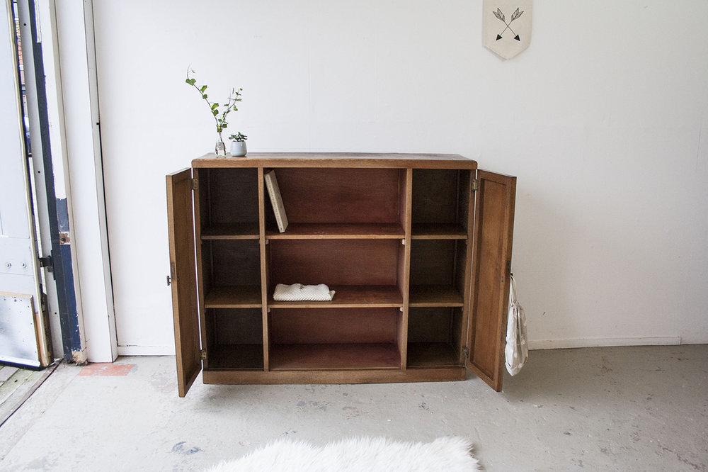 Houten Open Kast : Houten vintage boekenkastje u firma zoethout