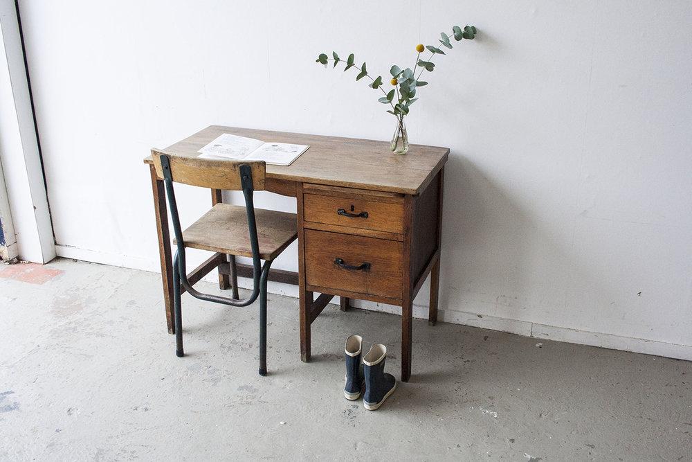 Houten vintage bureautje - Firmazoethout_1.jpg