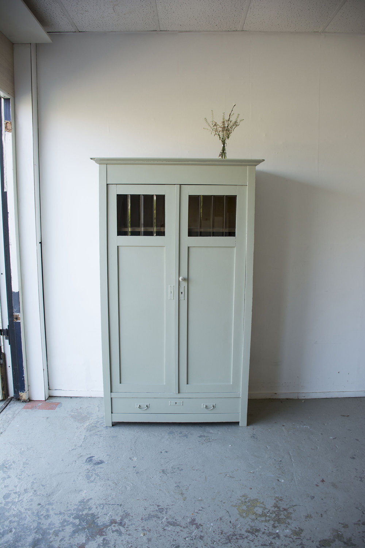 Zachtgroene vintage kledingkast - Firma zoethout_5.jpg