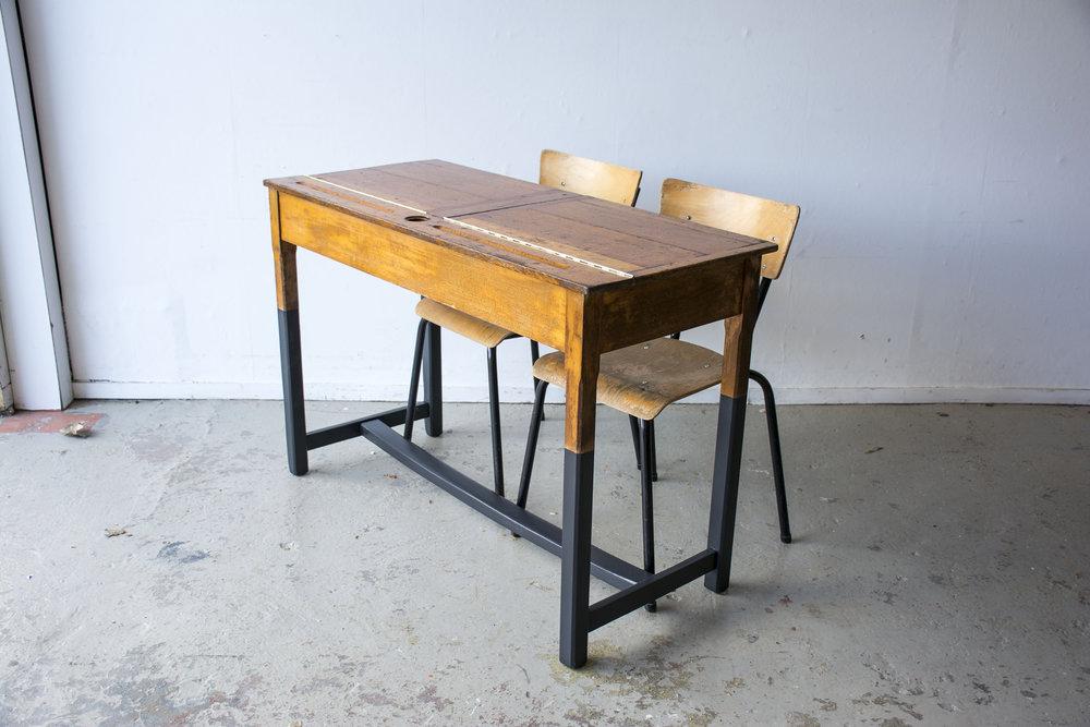 Vintage schooltafel met zwarte poten - Firma zoethout_5.jpg