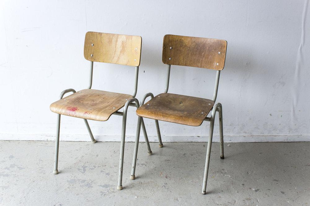 Vintage schooltafel met formica blad -  Firma zoethout_5.jpg