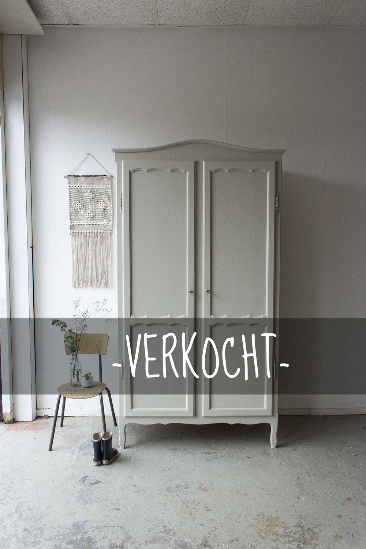 1406- demontabele sierlijke vintage kast in Linnen kleur - Firma zoethoutVERKOCHT.jpg