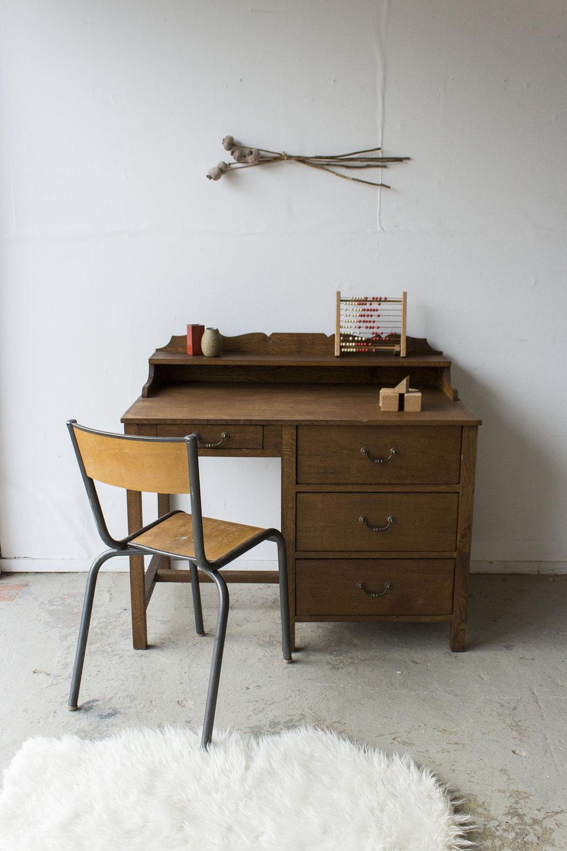 3159 - eikenhouten vintage bureau - Firma zoethout_4.jpg