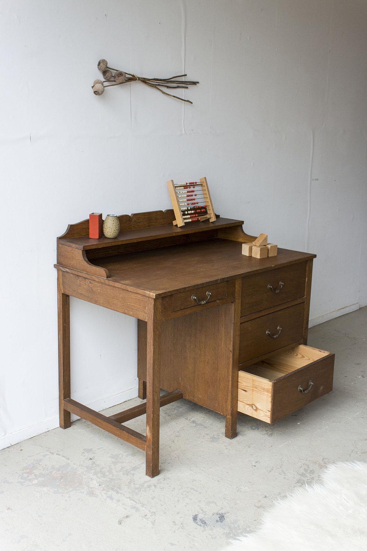 3159 - eikenhouten vintage bureau - Firma zoethout_3.jpg